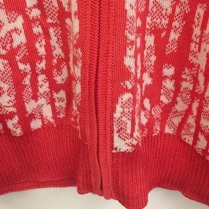 St. John Sweaters - St John Yellow Label Orange Knit Zip Cardigan